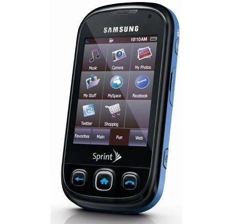 Samsung M350 Seek Blue Touchscreen Qwerty Phone Sprint [Seek